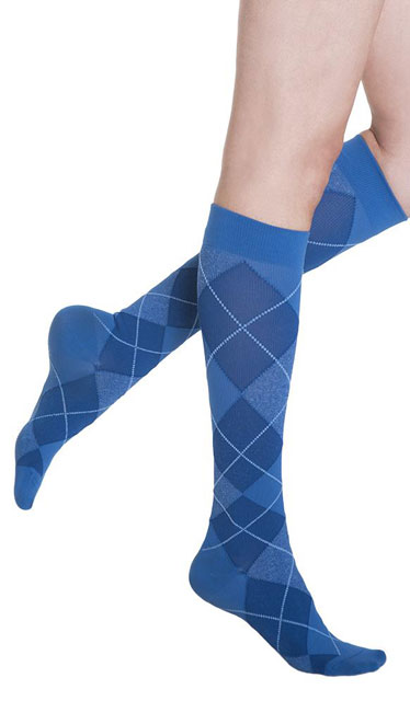 fa7524e8237 Sigvaris Group Microfiber Shades for Women Argyle Socks - The ...