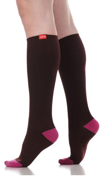 Jewel Tone Women's Moisture-Wick Nylon Compression Sock (15-20 mmHg) by Vim&Vigr