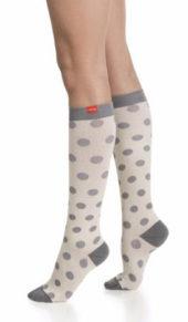 Vim&Vigr Women's Cotton Compression Knee Socks (20-30 mmHg)